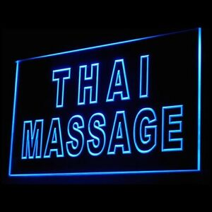 160062 Thai Massage Nerve Relax Relieve tension Display Neon Sign