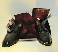 ALLEN EDMONDS Brewster Split Toe Oxford Derby's Black USA Leather Shoes=Sz-9.5D