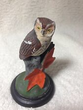 SCREECH OWL BY JOHN MULLICAN 1984 HAND PAINTED POPULAR BIRDS OF NORTH AMERICA