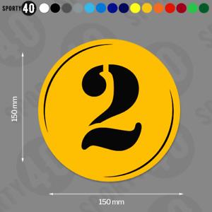 Round Number - Vinyl Decal / Sticker 2 x 150mm Classic Car Heritage 2112-0419B
