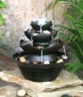 Waterfall Indoor Led Water Fountain Garden Water Feature Statue Lights