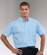 Klassische Kurzarm Herrenhemden aus Polyester