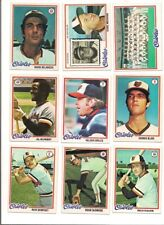 1978 Topps Baltimore Orioles Baseball Card Team Set (26 Different)