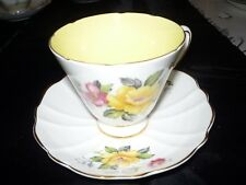 Vintage Old Royal Bone China Rose Pattern Cup and Saucer