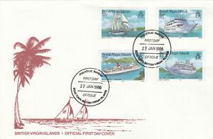 (90012) British Virgin Islands FDC Cruise Ships 1986