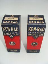 6V6GT Ken-Rad Matched Pair NOS