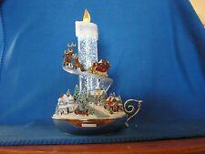 """Bradford Exchange """"Warm Glow"""" Thomas Kinkade Illuminated Sparkling Candle Lights"""