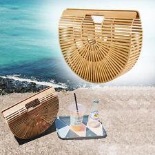 Damen Tasche Retro Handtaschen Bambus Reisen Strand Sommer Handtasche Elegant