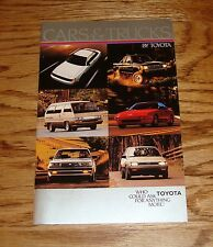 Original 1986 Toyota Car & Truck Full Line Sales Brochure 86 MR2 4Runner 8/85