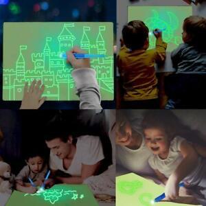 Kid Light Drawing Pad Luminescent Board Glow in Dark Painting Developing Educati