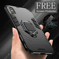 Case For iPhone 12 11 SE XR XS 8 7 Shockproof Rugged 360 Ring Stand Armor Cover