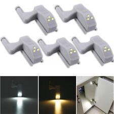 Battery Powered Cabinet Door Hinge LED Night Light Cupboard Wardrobe Closet Lamp