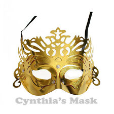 Venetian Gold Metallic  Masquerade Mask BZ303B for Party & Display