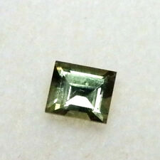 Natural Australian earth-mined green baguette sapphire..0.36 carat
