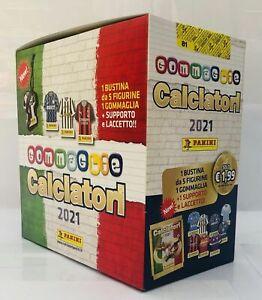 BOX DA 12 BUSTINE DI FIGURINE GOMMAGLIE CALCIATORI PANINI 2020 2021