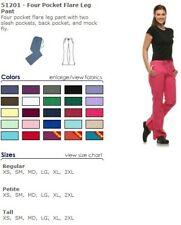 Dickies Hot Pink Scrub Pants Cargo Flare Leg Medical Wear Style 51201 Size Xl
