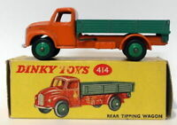 Vintage Dinky 414 - Rear Tipping Wagon - Orange Green