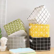 Foldable Storage Box Fabric Small Toys Cosmetic Case Basket Desk Organizer Tidy