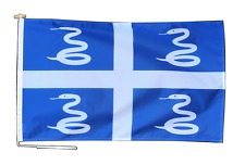 More details for martinique france flag with rope and toggle - various sizes