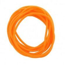 12 Pack Jelly Neon Orange Gummy Bangles Bracelets Wristbands 80's Fancy Dress