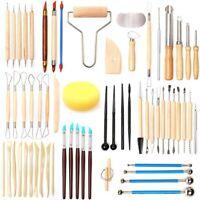 61 StüCke Keramik Ton Werkzeuge Set Polymer Clay Werkzeuge Keramik Werkzeuge Q2A