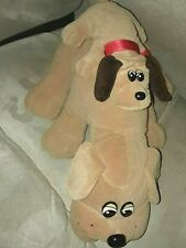 "Vintage 1985 Tonka Pound Puppies Brown Puppy 18"" Plush w/ Baby Stuffed Animal"