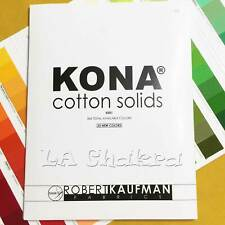 """Robert Kaufman """"kona Cotton Solids"""" Color Card 2019 Version 365 Colors"""
