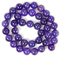 Natural 8mm Purple Dragon Veins Agate Round Gemstone Loose Beads 15''AAA
