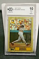 1987 Topps Barry Bonds ROOKIE RC #320 BCCG 10 Mint or Better