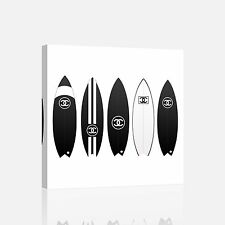 Chanel Surf Board Canvas Print Art Painting