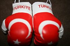 TURKEY / TURKISH FLAG Mini Boxing Gloves Ornament *NEW*