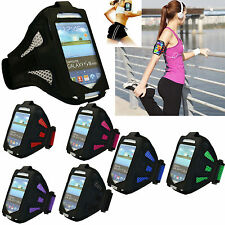 Running Jogging Cycling Gym Sports Armband Phone Case Pouch for Various PHONES Gray