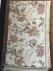 Antique/Vintage Silk Brocade Floral Tapestry Damask Valance 81 x 12 3/4