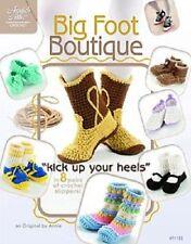 BIG FOOT Boutique Chaussons Crochet Pattern Book Annie's Attic