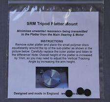 SRM TECH TRIPOD PLATTER MOUNT - Platter Isolation - LP12, TD160 etc