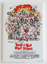 Rock N Roll High School FRIDGE MAGNET (2 x 3 inches) movie poster ramones