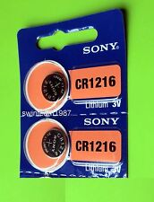 2pcs sony CR1216 1216 lithium battery 3V Watch Expire 2025