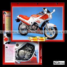 #108.01 Fiche Moto GILERA KZ 125 ENDURANCE 1986-87 Sport Bike Motorcycle Card