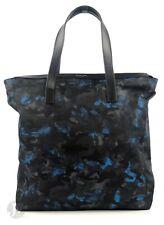 Michael Kors Mens Kent Camouflage Ocean Blue Nylon Zip Top Tote Handbag