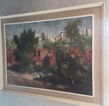 Leonardo De Magistris Original Framed Oil on Canvas Italy Painting ART Frascati