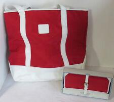 Liz Claiborne Handbag Purse Wallet NANTUCKET Flats Red White 600 New PAIR
