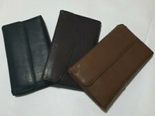 women's leather purse double wallet folding coin and card holder