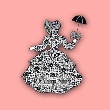 Sunbonnet Sue holding a Parasol, Umbrella ~ Vintage Quilt Pattern