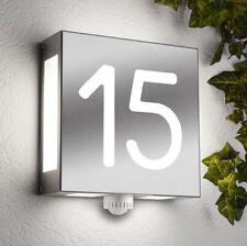 Aussenlampe Aussenleuchte Edelstahl mit Bewegungsmelder Wandlampe Hausnummer NEU
