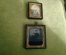 Antique Daguerreotype & Photograph both wood/ gilt metal frame