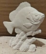 FISH BLUEGILL SUNFISH SPORTS READY TO PAINT CERAMIC BISQUE 5.5 INCH Handmade