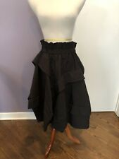 Very Rare Nelly Brand Skirt From Parachute Fabric Black O/s NWT $700!!