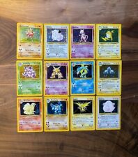 (12 Holo Lot) Base Set Unlimited - 1st Edition Pokemon Card Mewtwo LP-NM