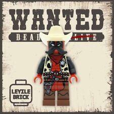 ⎡LEYILE BRICK⎦Custom Sheriff Deadpool printed on Lego Minifigure