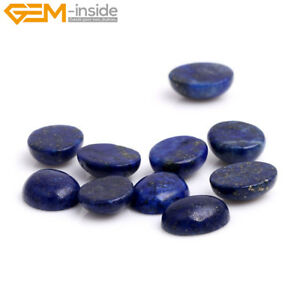 Oval Blue Lapis Lazuli CAB Cabochon Beads For Jewelry Ring Pendant Making 5Pcs